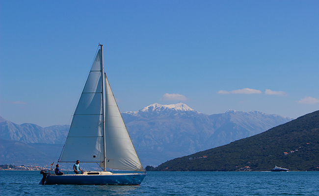 Sailimg in Montenegro
