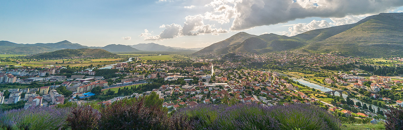 View on Trebinje and Popovo Polje (fields)