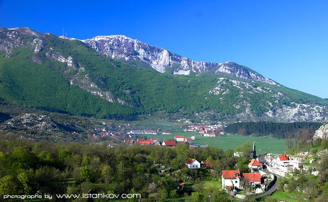 Famous village Njegusi - birthplace of Njegos - Petrovic Family, as well as place where Montenegrin speciality - prschuto is produced